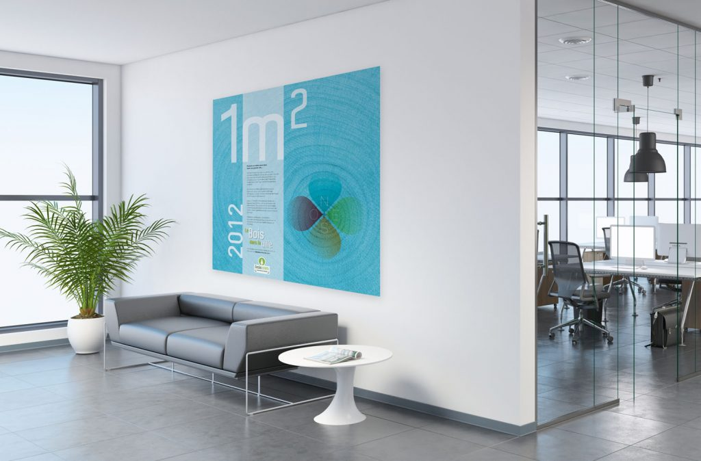 affiche de 1m2 pour un événement bois.com